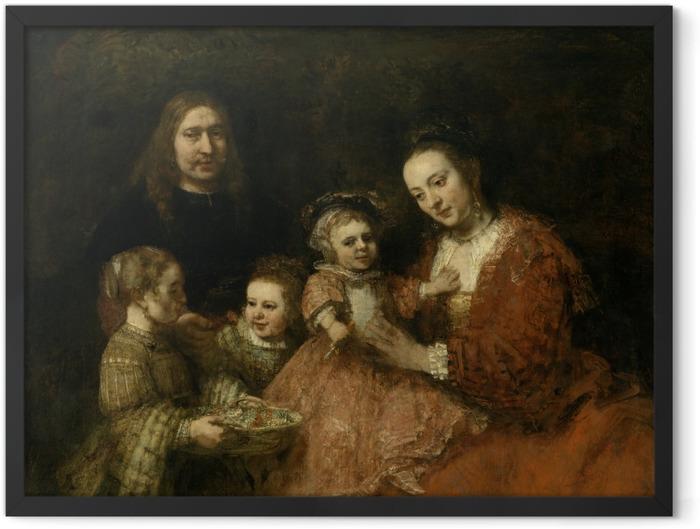 Plakat w ramie Rembrandt - Portret rodzinny - Reprodukcje