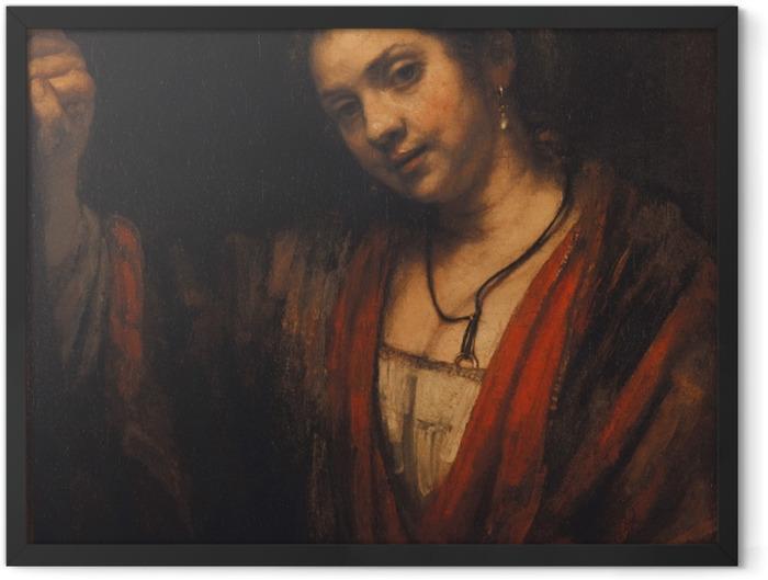 Poster en cadre Rembrandt - Portrait d'Hendrickje Stoffels - Reproductions