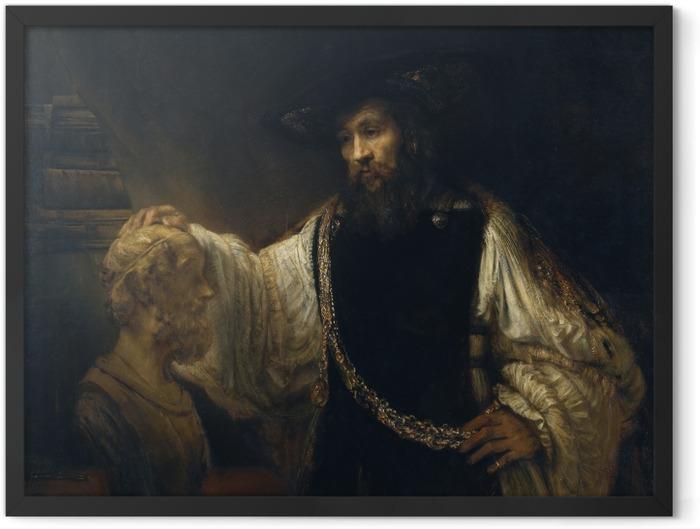 Gerahmtes Poster Rembrandt - Aristoteles vor der Büste Homers - Reproduktion