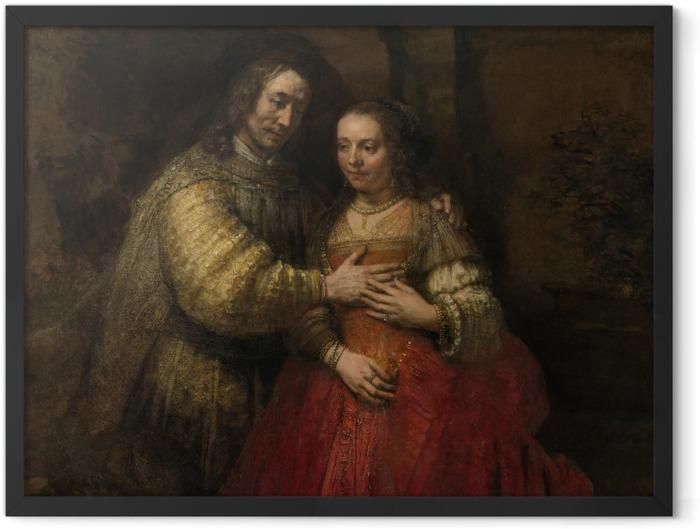 Poster en cadre Rembrandt - La Fiancée juive - Reproductions