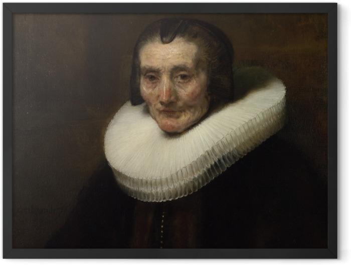 Poster en cadre Rembrandt - Portrait de Margaretha de Geer - Reproductions