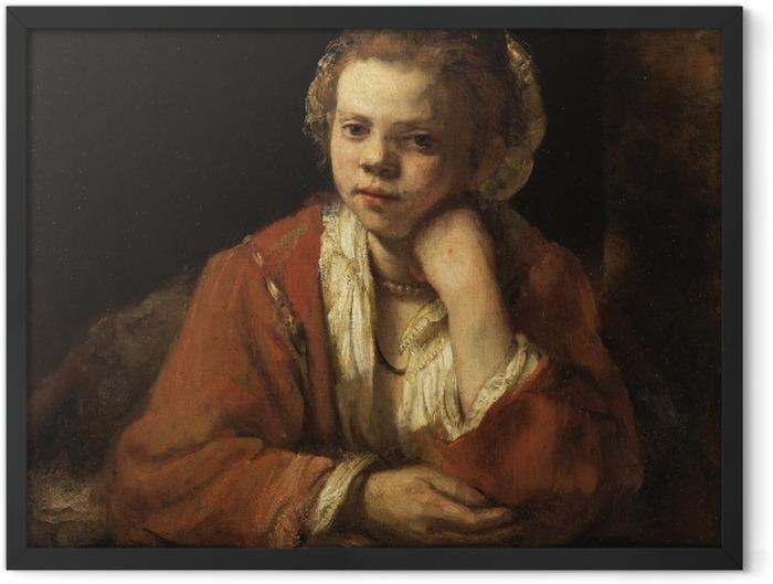 Poster en cadre Rembrandt - Fille à la fenêtre - Reproductions