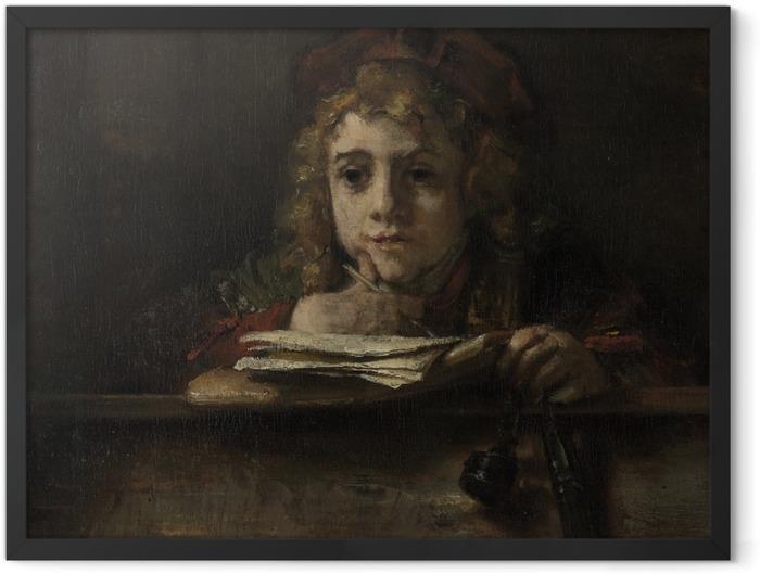 Plakat w ramie Rembrandt - Tytus za pulpitem - Reprodukcje