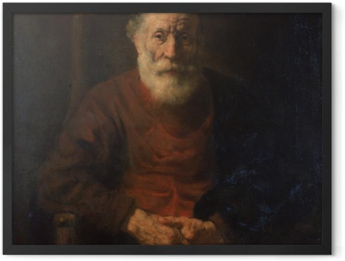 Poster en cadre Rembrandt - Portrait d'un vieillard en rouge - Reproductions