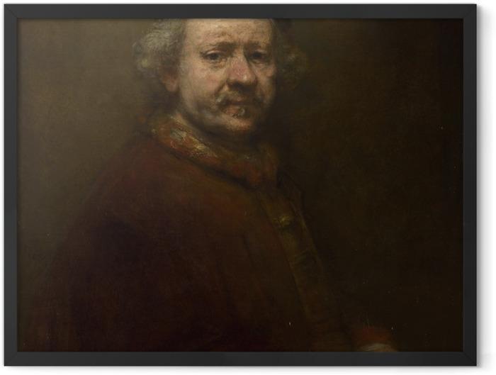 Gerahmtes Poster Rembrandt - Selbstporträt im Alter von 63 Jahren - Reproduktion