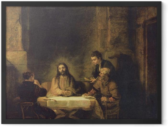 Poster en cadre Rembrandt - Souper à Emmaüs - Reproductions