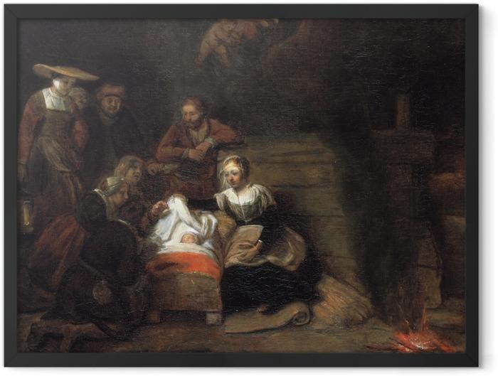 Plakat w ramie Rembrandt - Pokłon pasterzy - Reprodukcje