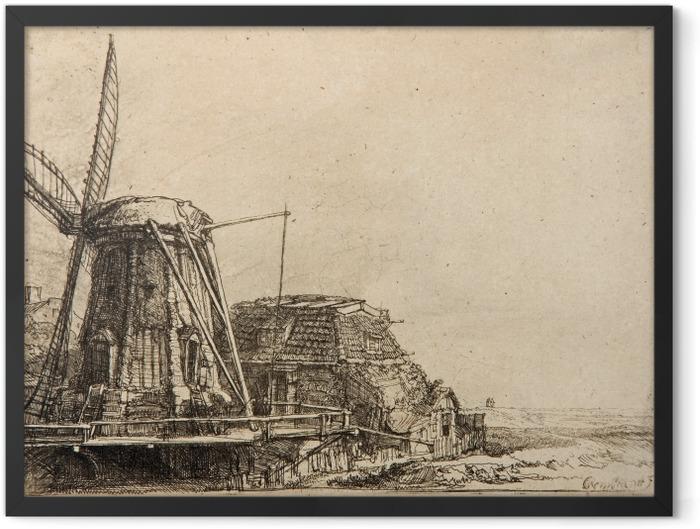 Poster en cadre Rembrandt - Le Moulin - Reproductions