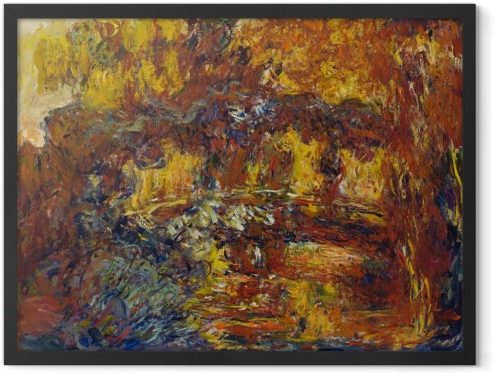 Plakat w ramie Claude Monet - Japoński mostek - Reprodukcje