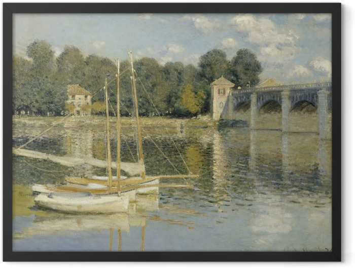 Gerahmtes Poster Claude Monet - Die Eisenbahnbrücke von Argenteuil - Reproduktion