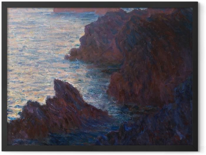 Gerahmtes Poster Claude Monet - Port-Domois, Belle-Île - Reproduktion