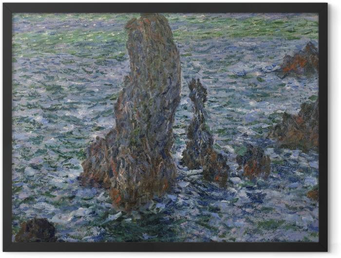Poster en cadre Claude Monet - Rochers à Belle-Île, Port-Domois - Reproductions