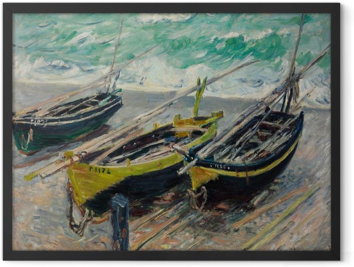 Poster en cadre Claude Monet - Trois bateaux de pêche - Reproductions