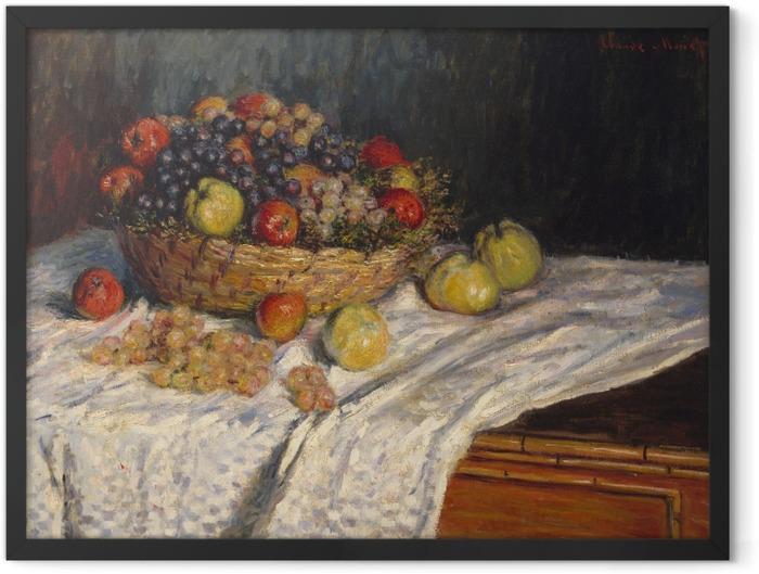Plakat w ramie Claude Monet - Jabłka i winogrona - Reprodukcje