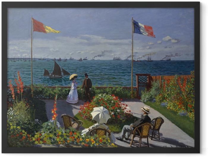 Plakat w ramie Claude Monet - Taras nad morzem w Sainte-Adresse - Reprodukcje