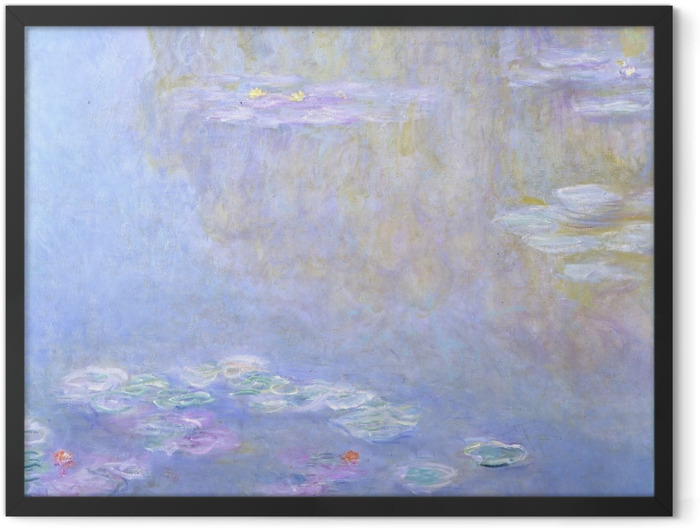 Gerahmtes Poster Claude Monet - Seerosen in Giverny - Reproduktion