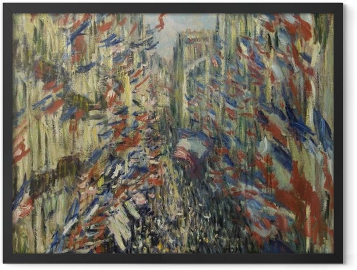 Poster en cadre Claude Monet - La Rue Montorgueil - Reproductions