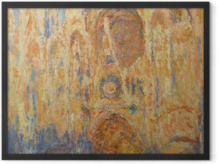 Plakat w ramie Claude Monet - Katedra w Rouen w słońcu - Reprodukcje