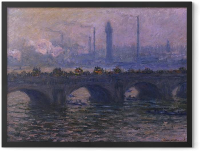 Poster en cadre Claude Monet - Le Pont de Waterloo - Reproductions