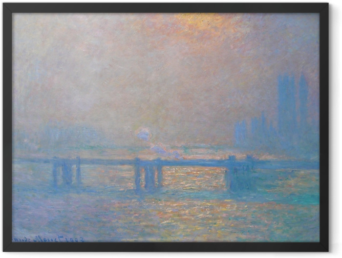 Plakat w ramie Claude Monet - Charing Cross Bridge - Reprodukcje