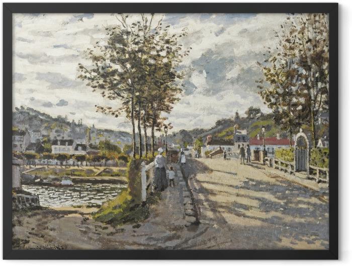 Poster en cadre Claude Monet - Le Pont de Bougival - Reproductions