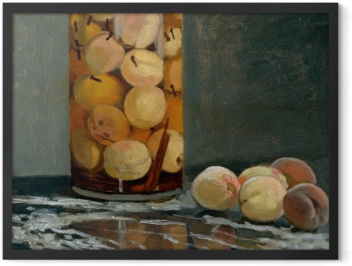 Poster en cadre Claude Monet - Le bocal de pêches - Reproductions
