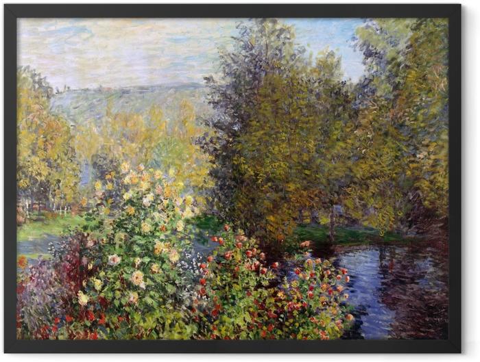Poster en cadre Claude Monet - Coin de jardin à Montgeron - Reproductions