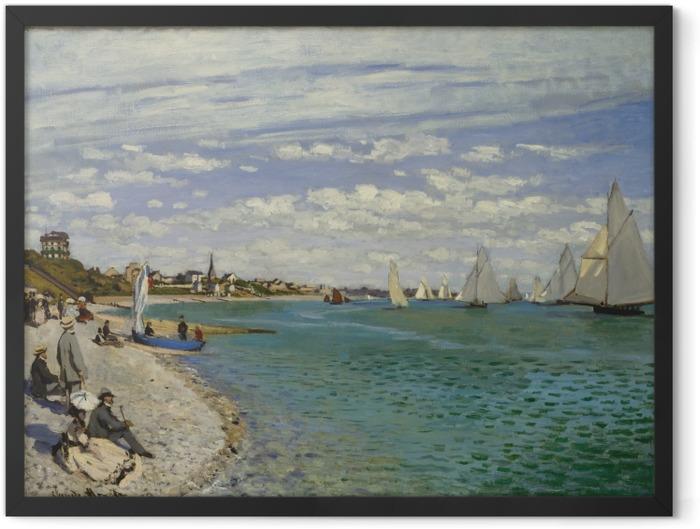 Gerahmtes Poster Claude Monet - Regatta in Sainte-Adresse - Reproduktion