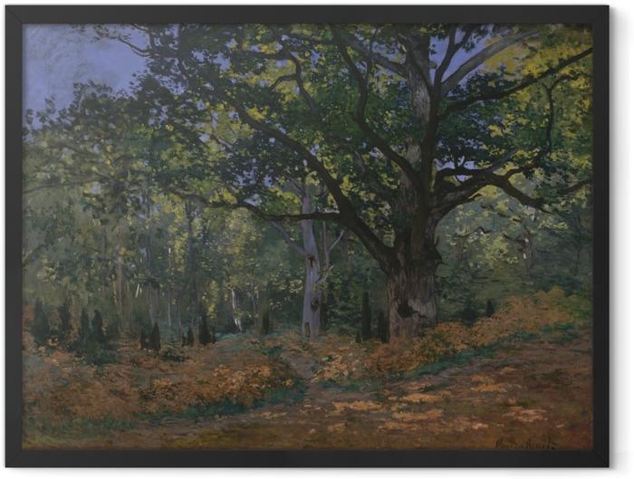 Gerahmtes Poster Claude Monet - Bodmer Eiche im Wald von Fontainebleau - Reproduktion