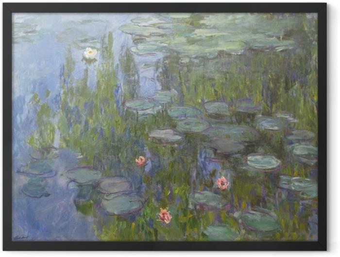 Plakat w ramie Claude Monet - Lilie wodne - Reprodukcje
