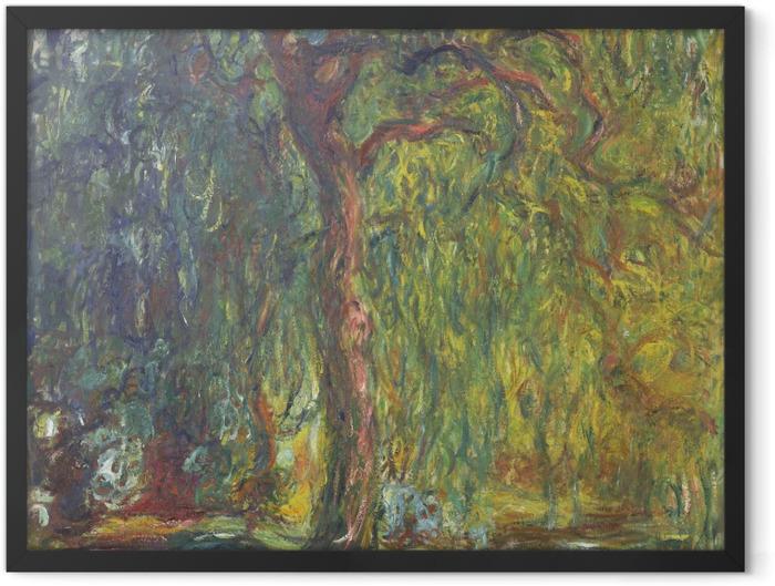 Plakat w ramie Claude Monet - Wierzba płacząca - Reprodukcje