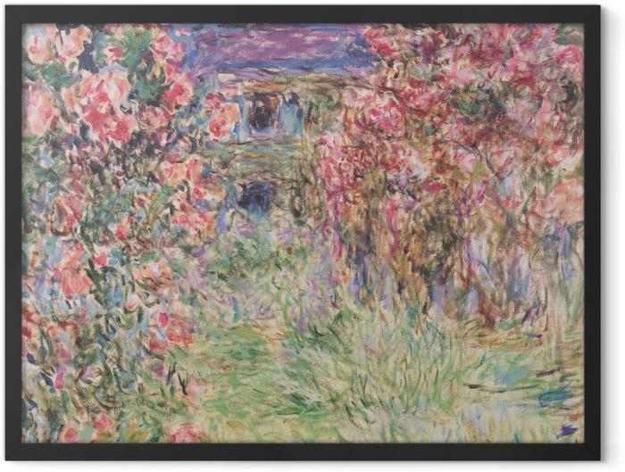 Plakat w ramie Claude Monet - Dom wśród róż - Reprodukcje