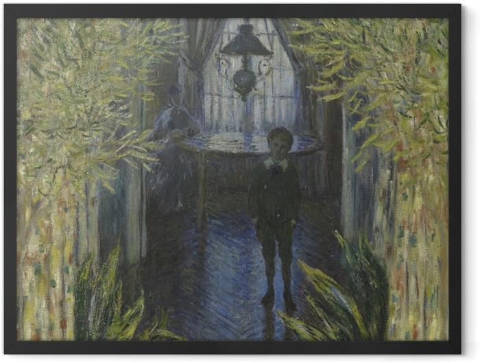 Plakat w ramie Claude Monet - Fragment mieszkania w Argenteuil - Reprodukcje