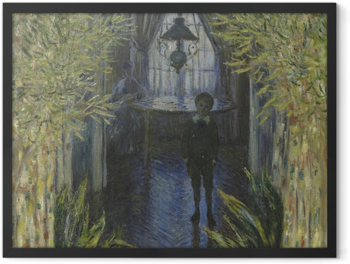 Poster en cadre Claude Monet - Un coin d'appartement - Reproductions