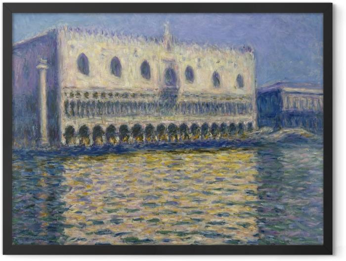 Gerahmtes Poster Claude Monet - Der Dogenpalast in Venedig - Reproduktion