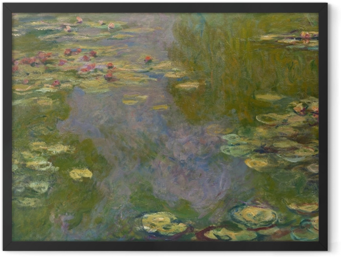 Poster en cadre Claude Monet - L'étang de nénuphar - Reproductions