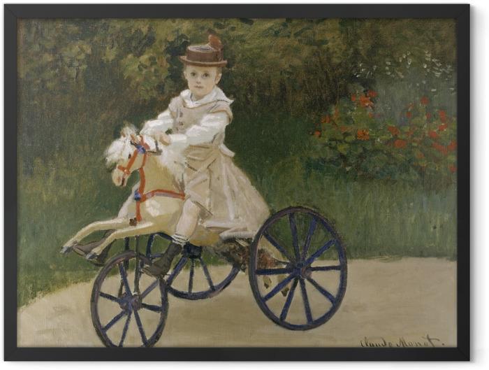 Poster en cadre Claude Monet - Jean Monet sur son cheval mécanique - Reproductions