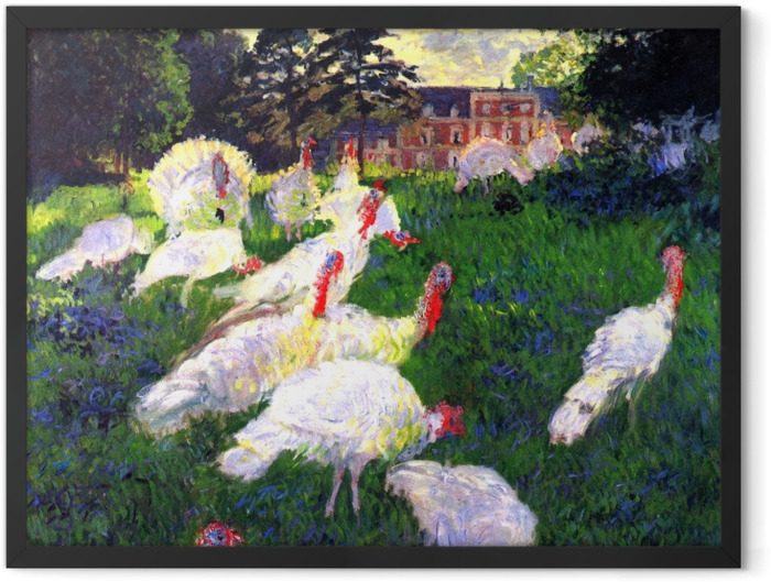 Gerahmtes Poster Claude Monet - Truthähne - Reproduktion