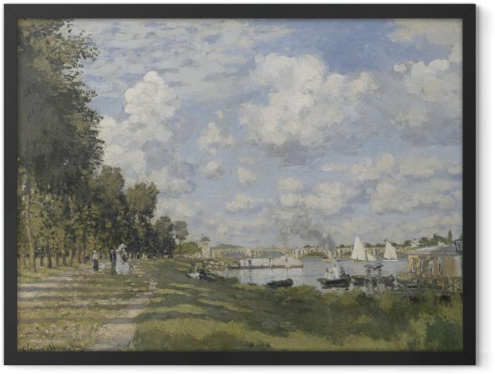 Plakat w ramie Claude Monet - Przystań w Argenteuil - Reprodukcje