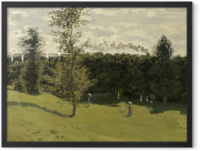 Poster en cadre Claude Monet - Train dans la campagne - Reproductions
