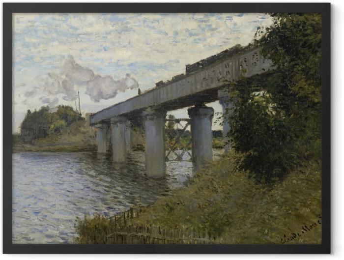 Plakat w ramie Claude Monet - Most kolejowy w Argenteuil - Reprodukcje