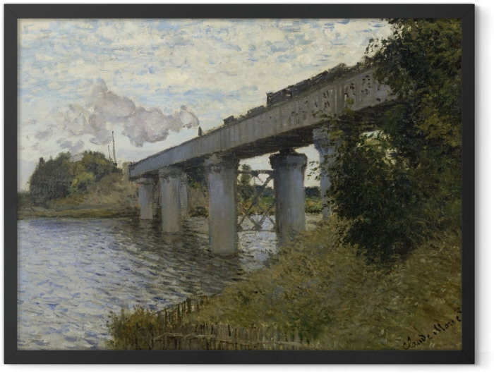 Poster en cadre Claude Monet - Le Pont du chemin de fer à Argenteuil - Reproductions