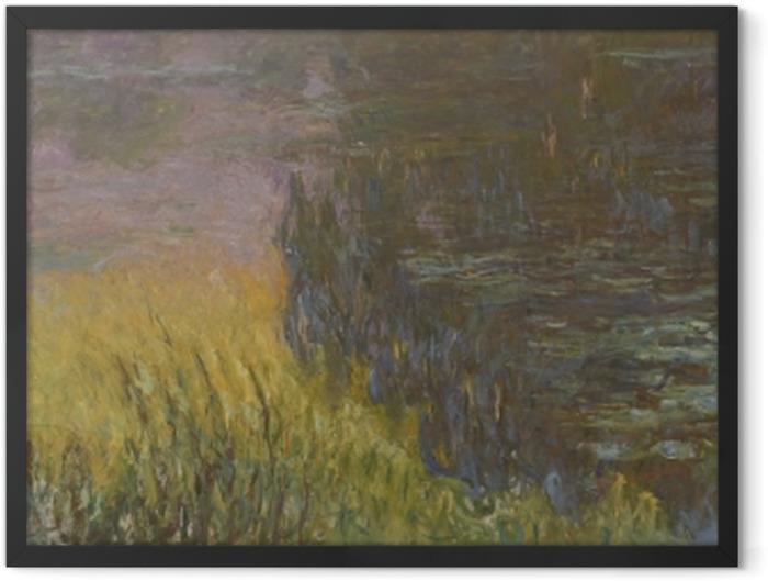 Poster en cadre Claude Monet - Les Nymphéas : Soleil couchant - Reproductions