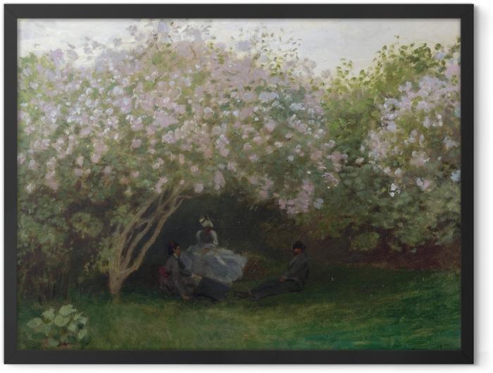 Poster en cadre Claude Monet - Les Lilas, Temps Gris - Reproductions