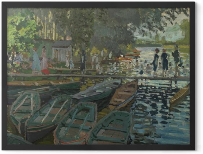 Gerahmtes Poster Claude Monet - Badende in La Grenouillère - Reproduktion