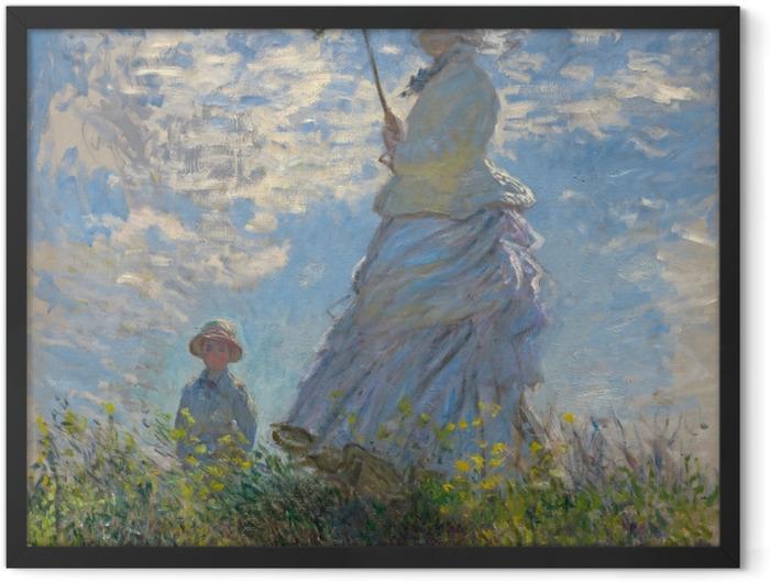 Poster en cadre Claude Monet - Femme à l'ombrelle tournée vers la droite - Reproductions