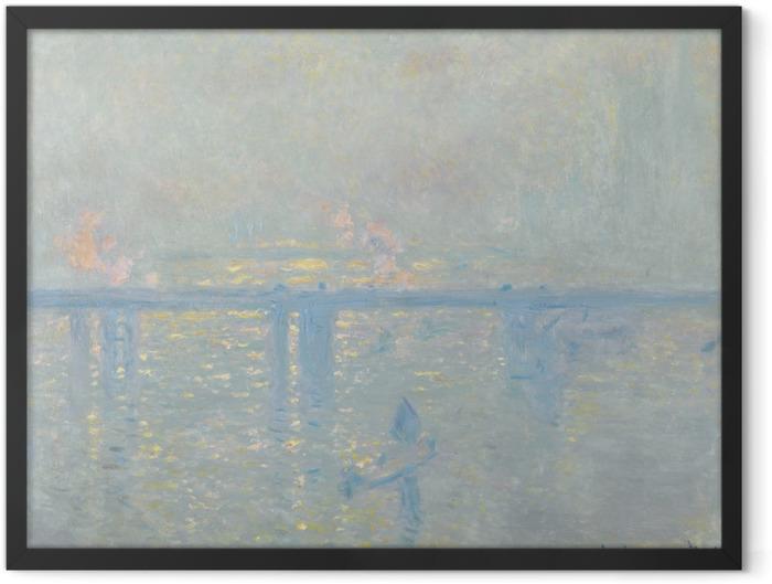 Poster en cadre Claude Monet - La Tamise à Charing-Cross - Reproductions