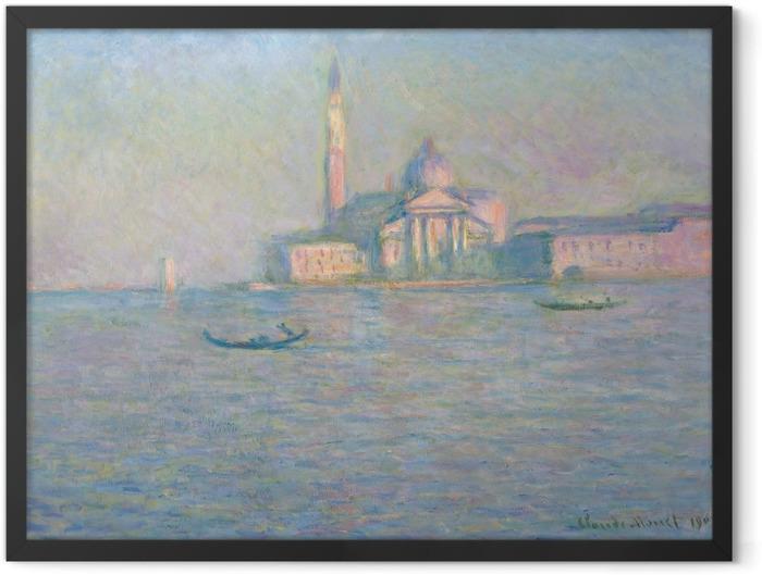 Gerahmtes Poster Claude Monet - San Giorgio Maggiore - Reproduktion
