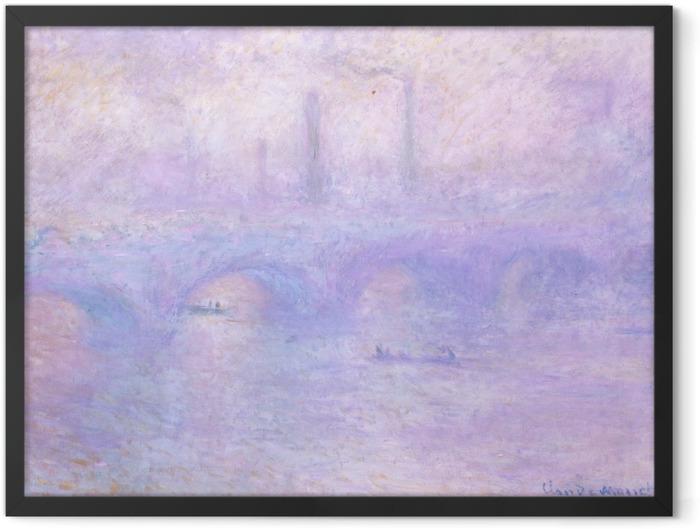 Poster en cadre Claude Monet - Pont de Waterloo, au crépuscule - Reproductions