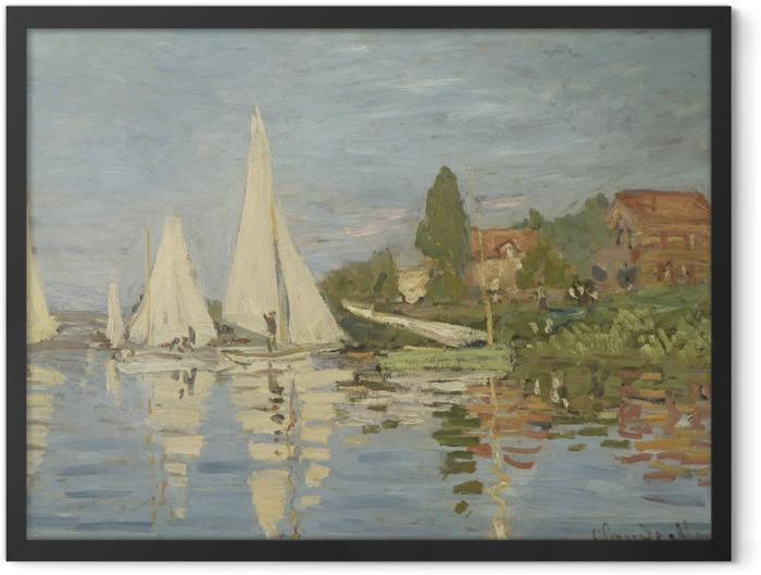 Plakat w ramie Claude Monet - Regaty w Argenteuil - Reprodukcje